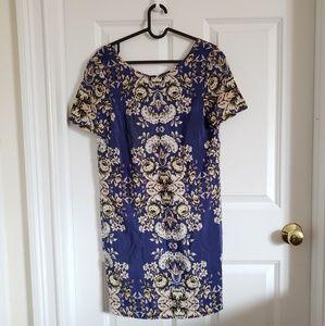 Madewell print shorts sleeve dress